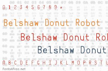 Belshaw Donut Robot Font