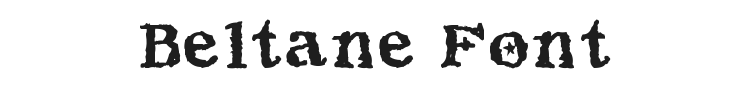 Beltane Font Preview