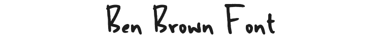Ben Brown Font Preview