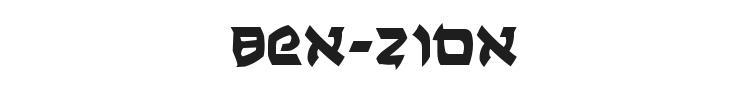 Ben-Zion Font Preview