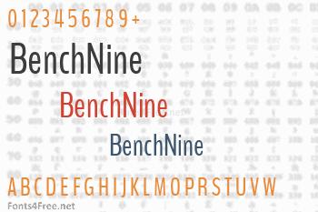 BenchNine Font