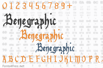 Benegraphic Font