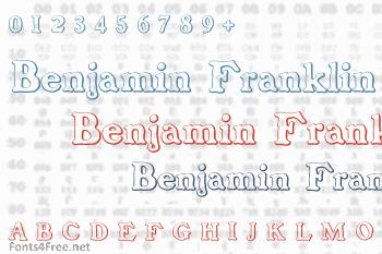 Benjamin Franklin Beveled Font
