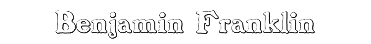 Benjamin Franklin Beveled Font Preview