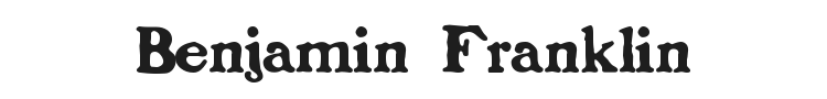Benjamin Franklin Font Preview
