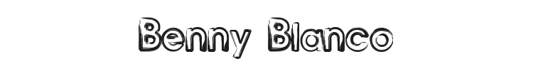 Benny Blanco Font Preview