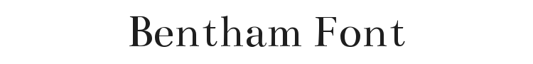 Bentham Font Preview