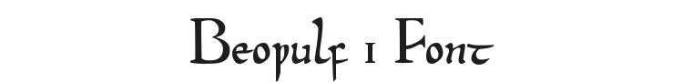 Beowulf 1 Font Preview
