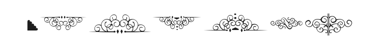 Bergamot Ornaments Font Preview