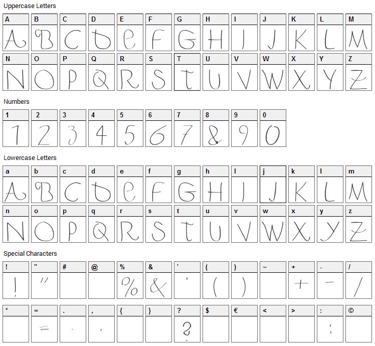 Berger & Berger Caps Font Character Map
