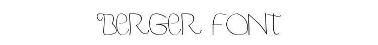 Berger & Berger Caps Font Preview