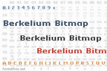 Berkelium Bitmap Font