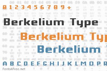 Berkelium Type Font