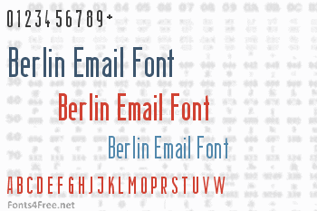 Berlin Email Font