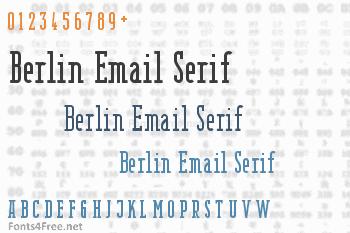 Berlin Email Serif Font