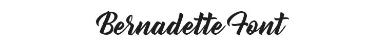 Bernadette Font Preview