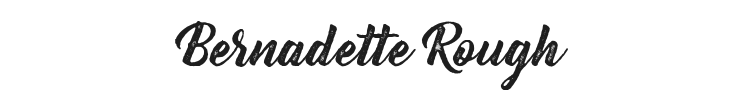 Bernadette Rough Font Preview