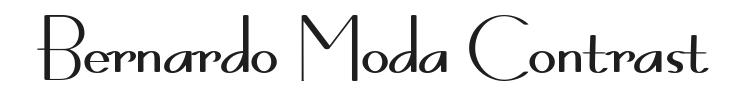 Bernardo Moda Contrast Font Preview