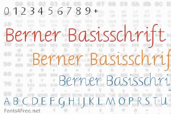 Berner Basisschrift Font