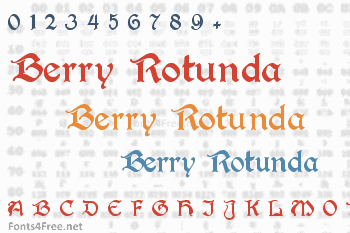 Berry Rotunda Font
