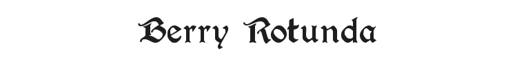 Berry Rotunda Font Preview