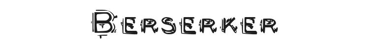 Berserker Font Preview