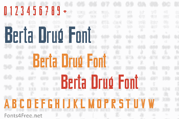 Berta Drug Font