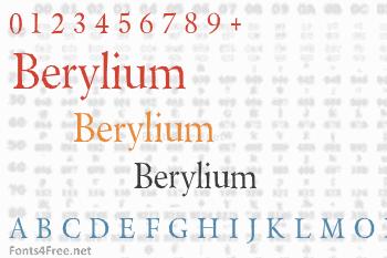 Berylium Font
