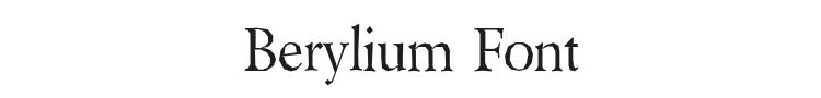Berylium Font Preview