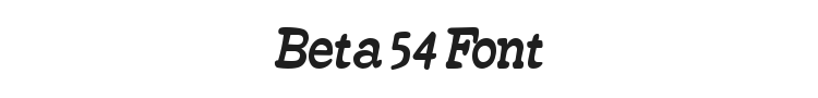 Beta 54 Font