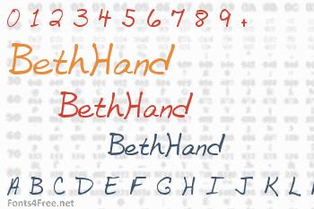 BethHand Font