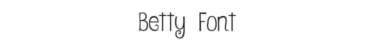 Betty Font Preview