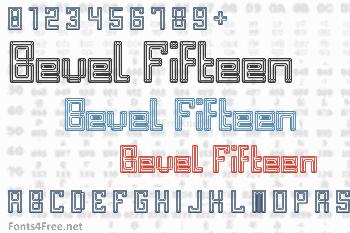 Bevel Fifteen Font