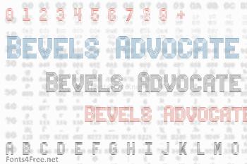 Bevels Advocate Mono Font