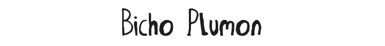 Bicho Plumon Font Preview