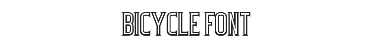 Bicycle Font Preview