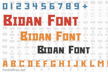 Bidan Font