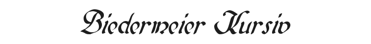 Biedermeier Kursiv Font Preview
