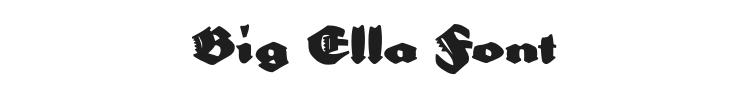 Big Ella Font Preview