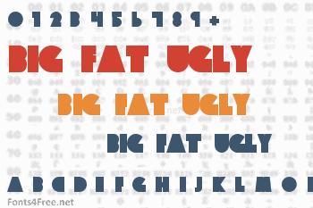 Big Fat Ugly Cow Font