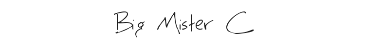 Big Mister C Font Preview