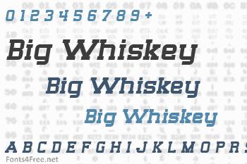 Big Whiskey Font