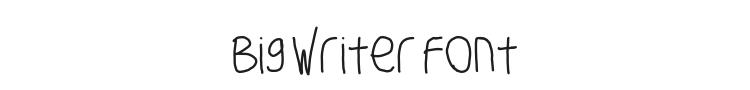 Big Writer Font