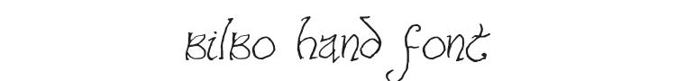 Bilbo Hand Font Preview