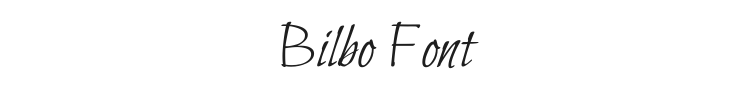 Bilbo Font Preview