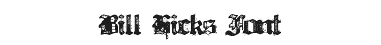 Bill Hicks Font Preview