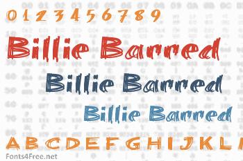 Billie Barred Font