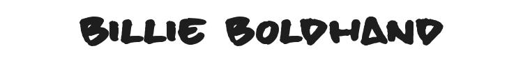 Billie BoldHand Font