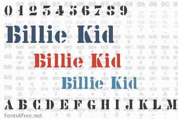 Billie Kid Font