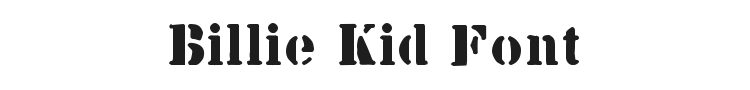 Billie Kid Font Preview